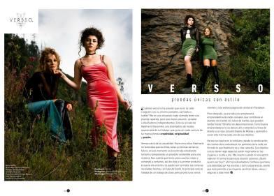 Editorial de moda con la marca Versso
