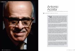 Retrato Antonio Acosta para revista Ekos.