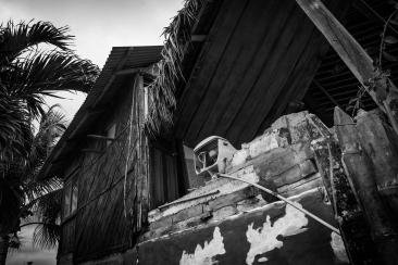 Espacios vacíos tras la devastación del terremoto ocurrido el 16 de Abril del 2016 en la costa ecuatoriana.